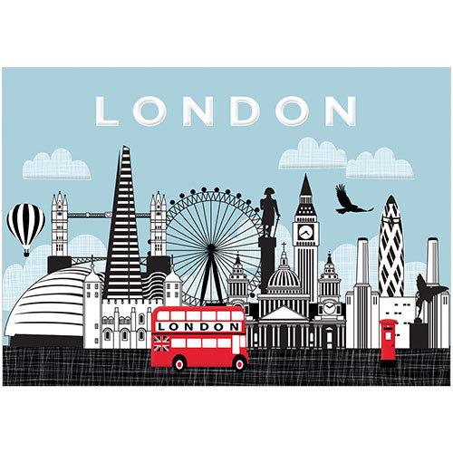 a263 london town uk new greeting card phoenix trading