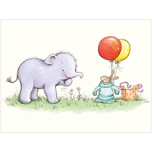 B039 little elephant mini gift card