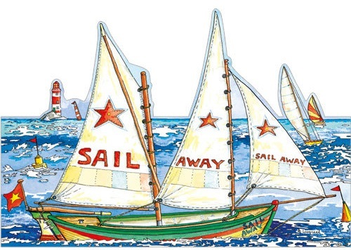 Sail Away Yachting Greeting Card DC76