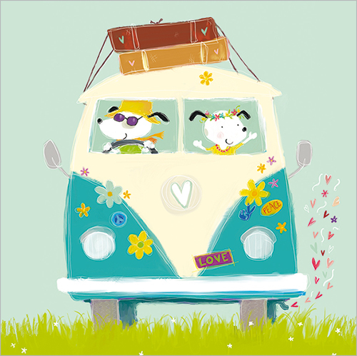 Campervan Fathers Day Card