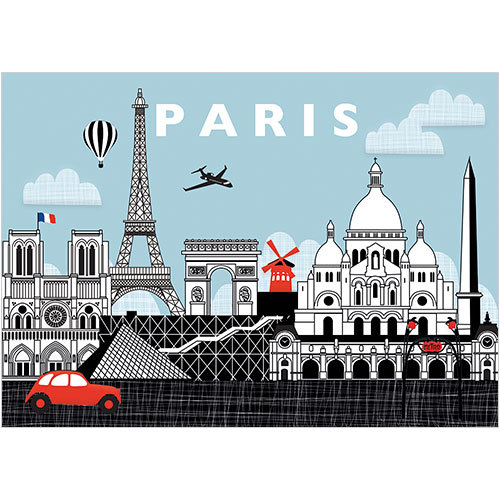 Paris Greeting Card (A268) Phoenix Trading France
