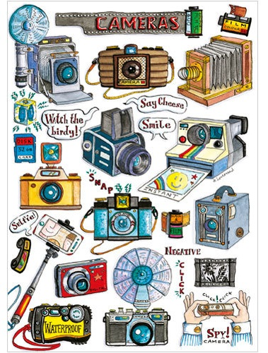 Cameras Travel Greeting Card A246