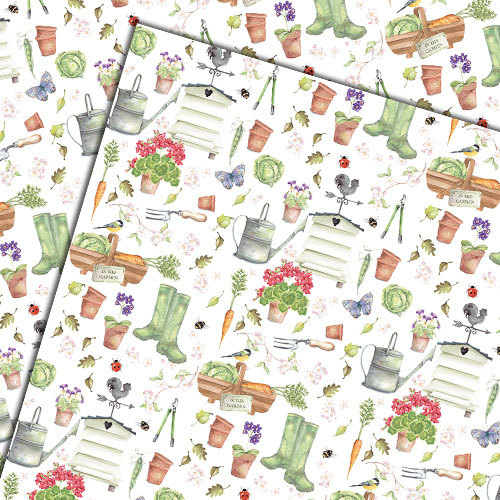 In the garden gift wrapping paper