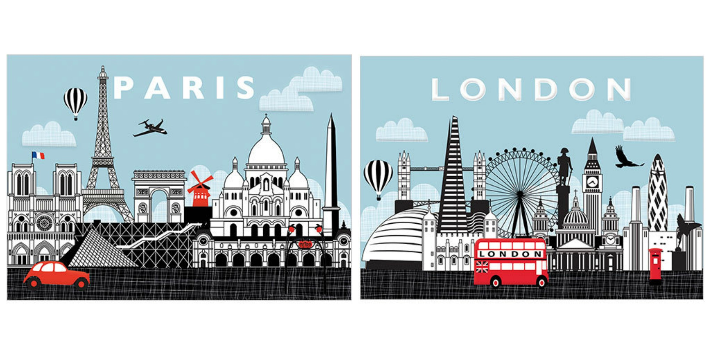 Paris Greeting Card London Greeting Card