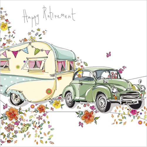 Happy Retirement Travel Greeting Card S253