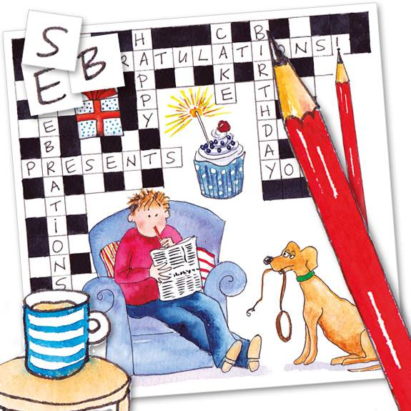 Birthday Crossword? Greeting Card Code: S274