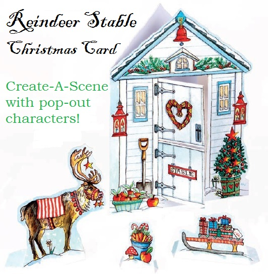 Reindeer Stable Christmas Card