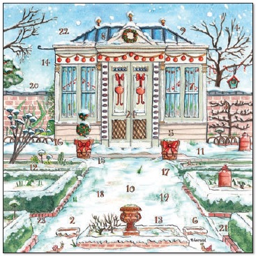 Christmas Garden Advent Calendar Cards