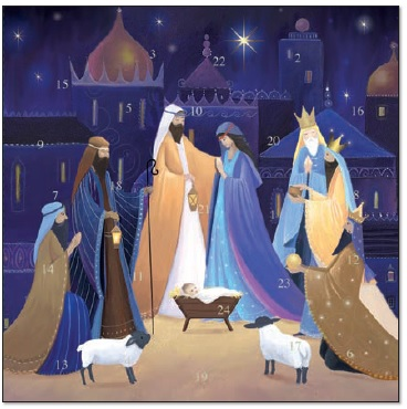 Christmas Nativity Advent Calendar Card