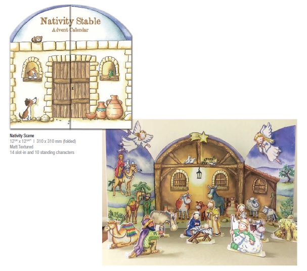 Traditional Nativity Advent Calendar