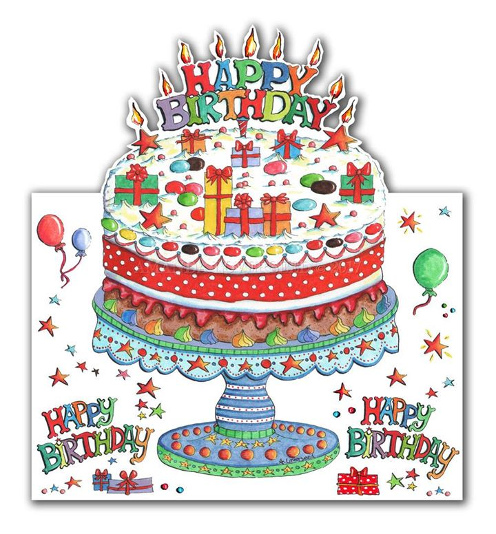 Happy Birthday Pop Up 3D new greeting card design
