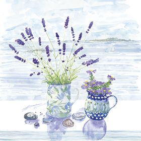 Lavender and Shells greeting card artists Alison Vickery