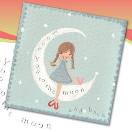 love you to the moon and back love lucy illustration greetin card artists