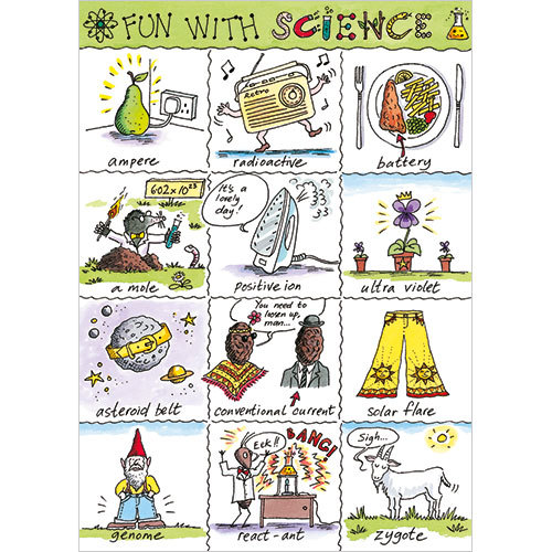 Fun With Science Birthday Card