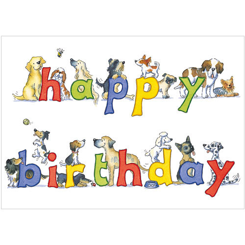Happy Birthday Dogs Greeting Cards