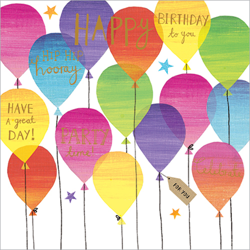 Birthday Balloons Luxury Greeting Cards
