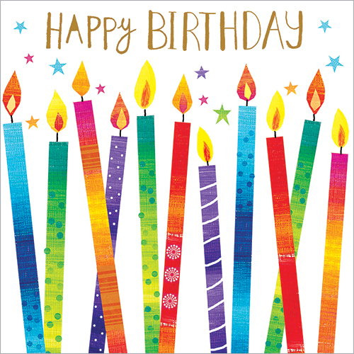 Luxury Birthday Cards Candles Gold Foiled
