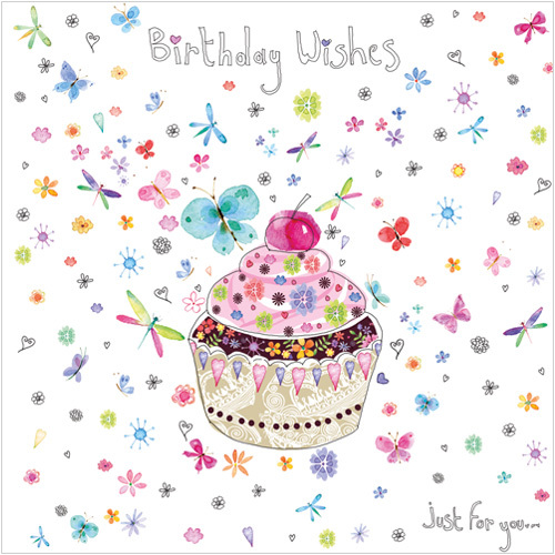 Cupcake Birthday Wishes Card WS162