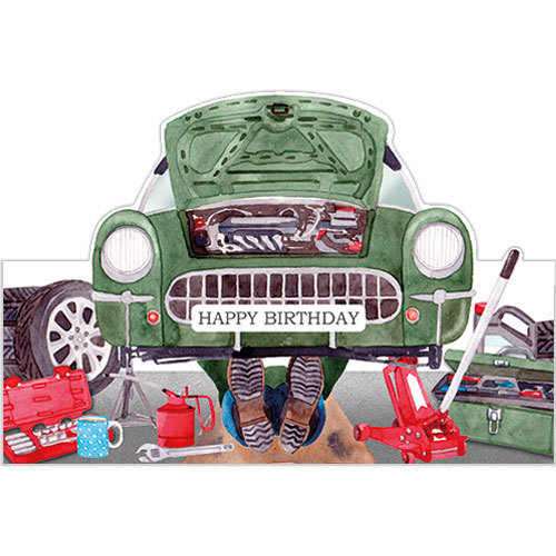 Car Enthusiast Mechanic Birthday Card DC75