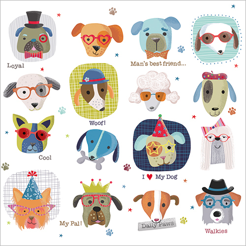 Cool Dogs Greeting Cards