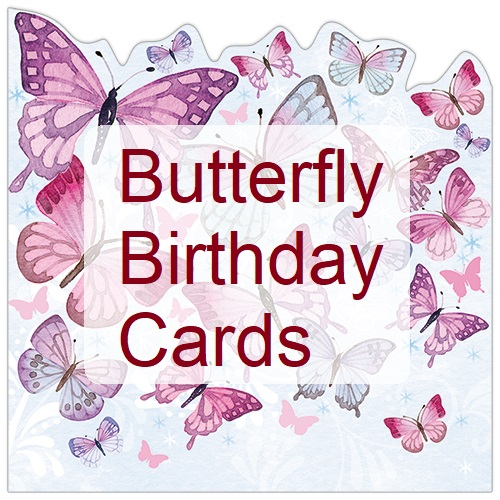 Butterfly Birthday Card, Greeting Cards with Butterflies