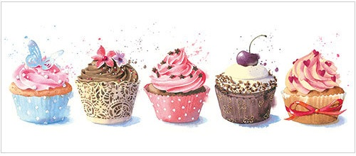 Cupcakes Greeting Card L322