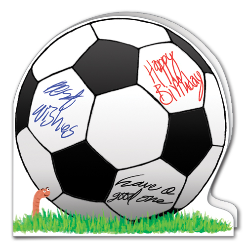 Soccer Football Birthday Card LS42