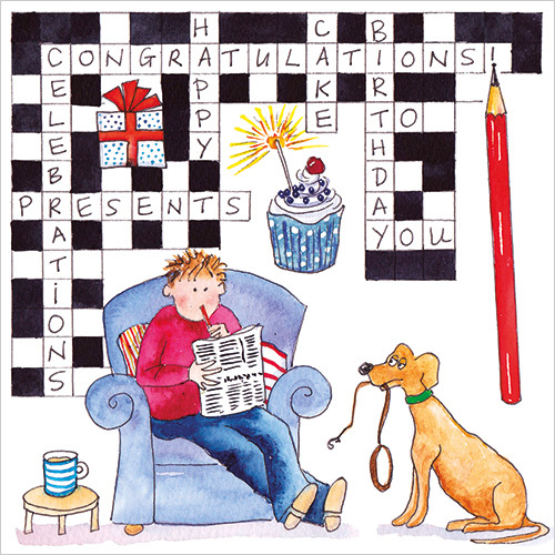 Happy Birthday Crossword Greeting Card