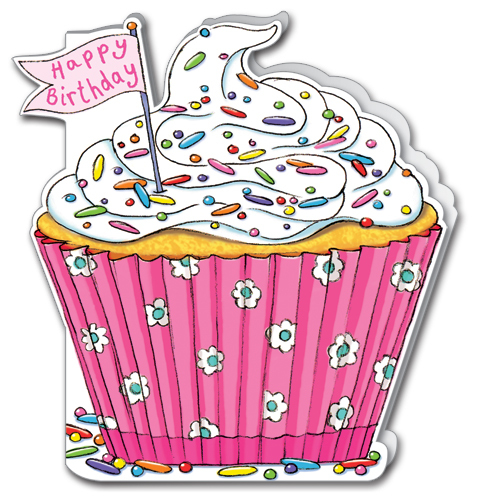 Happy Birthday Cupcake Card WS162