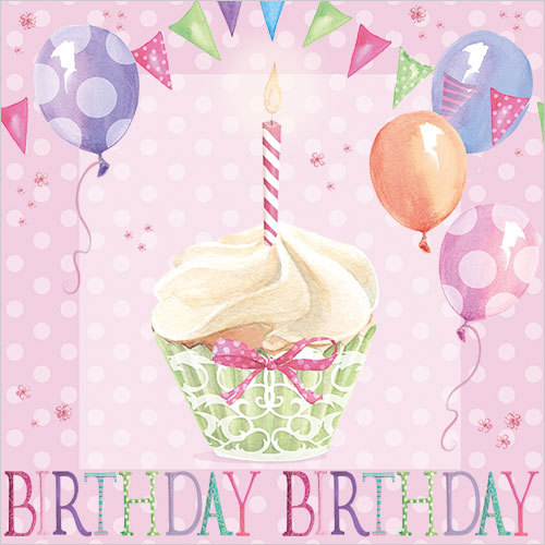 cupcake birthday card ws440
