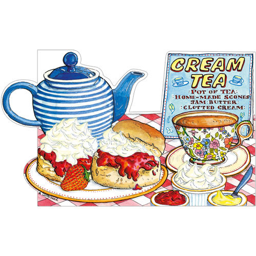 Cream Tea Greeting Card A235