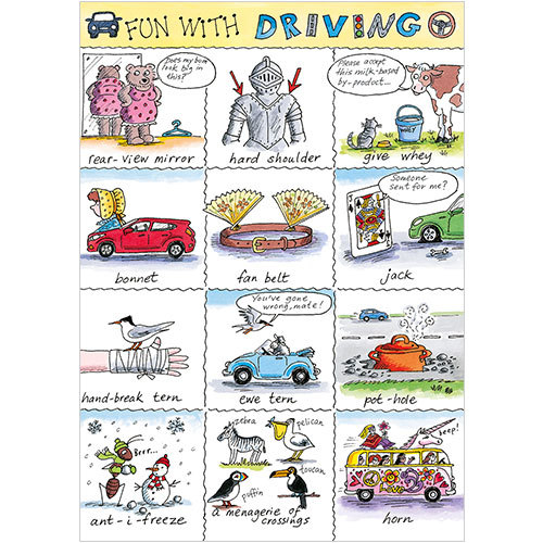Fun With Driving Passed Driving Test Greeting Card