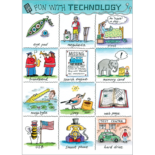 Fun With Technology Humorous Greeting Cards