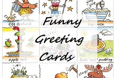 7 Funny Greeting Cards & 3 Funny Birthday Cards