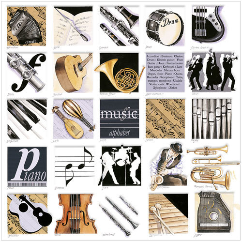 Music Alphabet fine greeting cards