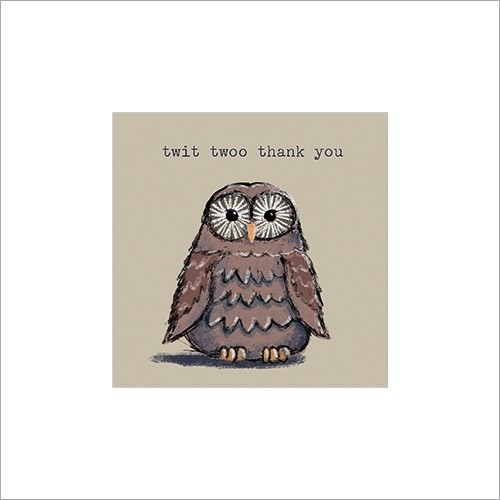 Owl Twit Twoo Thank You luxury greeting cards