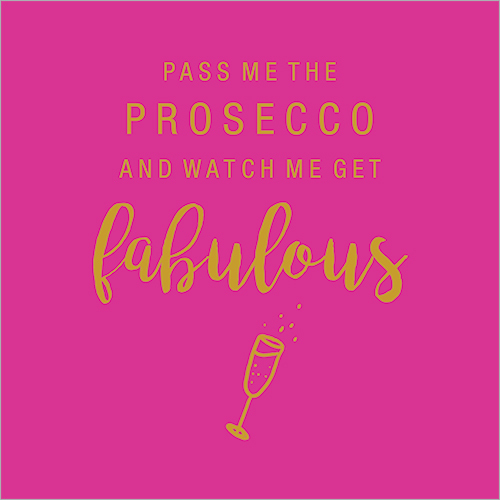 Fabulous Prosecco Birthday Card for Girlfriend
