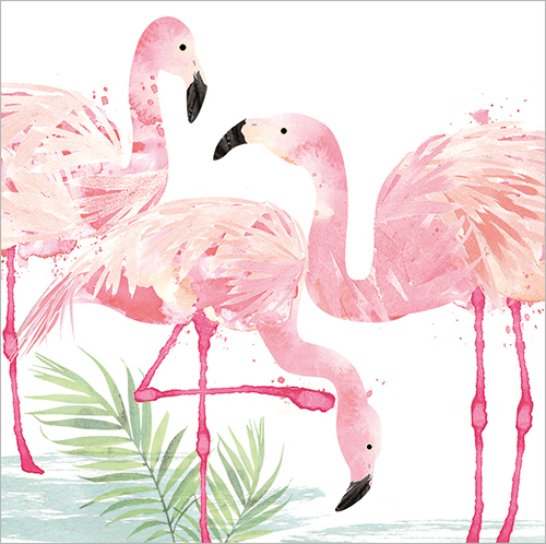 Pink Flamingos Greeting Card FP6008 Flamingo Paperie Cards