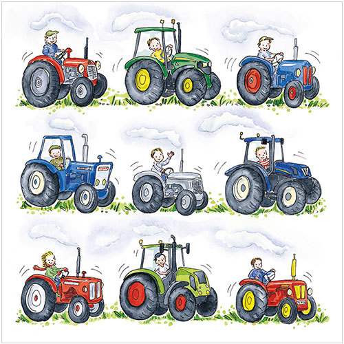 Tractor Birthday Card S283