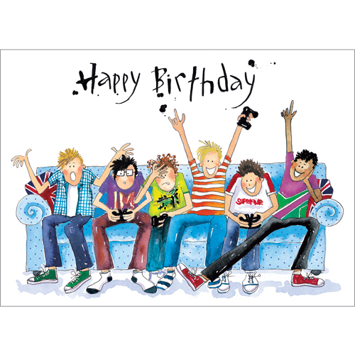 13th Birthday Card A121 Gaming Sofa Boys