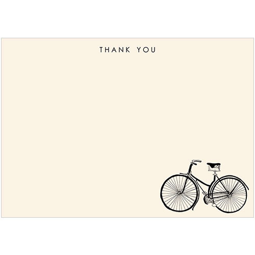 vintage bicycle thank you note card