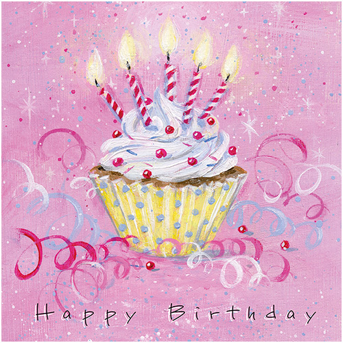 cupcake celebration card ws505