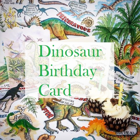 Dinosaur Birthday Card – 3D Pop Up Create A Scene
