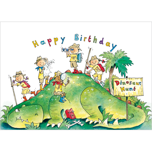 dinosaurhappy birthday card