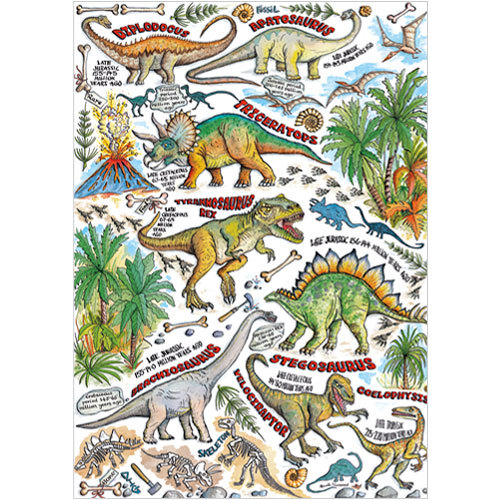 dinosaur birthday card A203 Dinosaurs