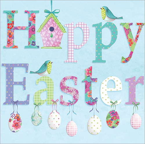 Easter Cards: Greeting Cards with Cute Bunny Rabbit, Chickens or Floral