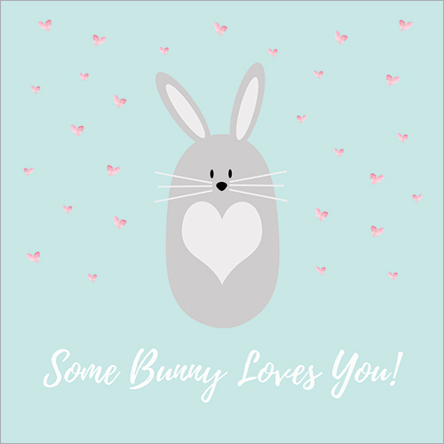 bunny rabbit card for easter