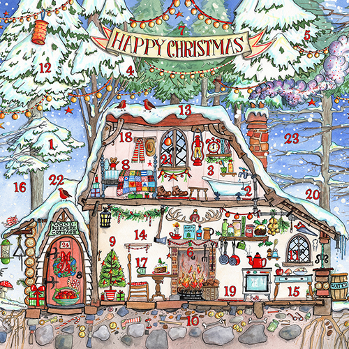 Woodmans House Advent Calendar Christmas Card