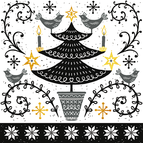 Nordic Tree Christmas Card