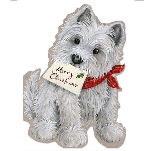 Snowy Terrier Christmas Card